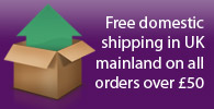 Free domestic shipping in UK mainland on all orders over £50